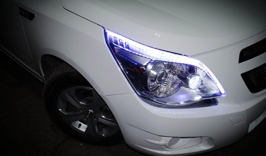 LED дневные ходовые огни на Ravon R4
